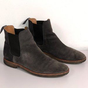 New Republic Suede Chelsea Boots Shoes Gray 10.5